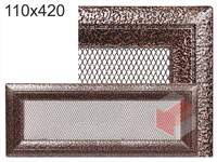 Krbová mřížka Oskar černo-měděná 110x420
