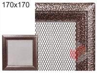 Krbová mřížka Oskar černo-měděná 170x170