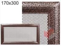 Krbová mřížka Oskar černo-měděná 170x300