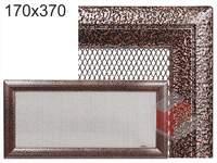 Krbová mřížka Oskar černo-měděná 170x370