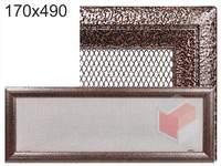 Krbová mřížka Oskar černo-měděná 170x490