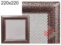 Krbová mřížka Oskar černo-měděná 220x220