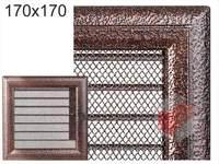 Krbová mřížka Oskar černo-měděná s žaluzií GZ 170x170