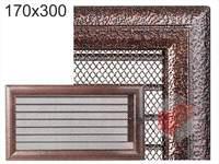 Krbová mřížka Oskar černo-měděná s žaluzií GZ 170x300