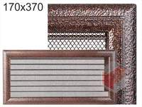 Krbová mřížka Oskar černo-měděná s žaluzií GZ 170x370