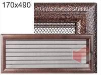 Krbová mřížka Oskar černo-měděná s žaluzií GZ 170x490