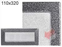 Krbová mřížka lakovaná černo-stříbrná 110x320