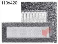 Krbová mřížka lakovaná černo-stříbrná 110x420