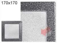 Krbová mřížka lakovaná černo-stříbrná 170x170