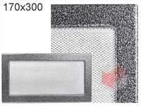 Krbová mřížka lakovaná černo-stříbrná 170x300