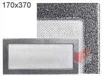 Krbová mřížka lakovaná černo-stříbrná 170x370