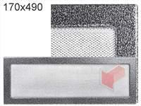 Krbová mřížka lakovaná černo-stříbrná 170x490