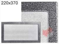 Krbová mřížka lakovaná černo-stříbrná  220x370
