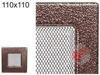 Krbová mřížka stará měď - černoměděná 110x110