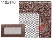 Krbová mřížka stará měď - černoměděná 110x170