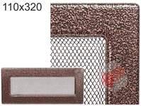 Krbová mřížka stará měď - černoměděná 110x240