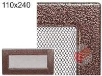 Krbová mřížka stará měď - černoměděná 110x320