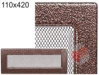 Krbová mřížka stará měď - černoměděná 110x420