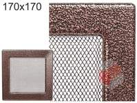 Krbová mřížka stará měď - černoměděná 170x170
