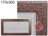 Krbová mřížka stará měď - černoměděná 170x300