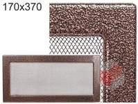 Krbová mřížka stará měď - černoměděná 170x370