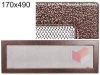 Krbová mřížka stará měď - černoměděná 170x490