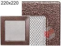 Krbová mřížka stará měď - černoměděná  220x220