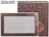Krbová mřížka stará měď - černoměděná  220x300