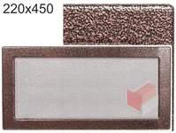 Krbová mřížka stará měď - černoměděná  220x450