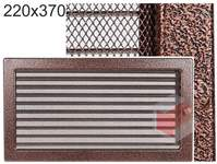 Krbová mřížka stará měď - černoměděná s žaluzií 220x370