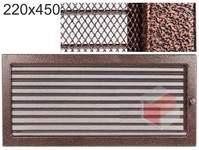 Krbová mřížka stará měď - černoměděná s žaluzií 220x450