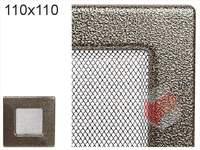 Krbová mřížka lakovaná černo-zlatá 110x110
