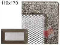 Krbová mřížka lakovaná černo-zlatá 110x170