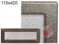 Krbová mřížka lakovaná černo-zlatá 110x420