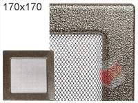 Krbová mřížka lakovaná černo-zlatá 170x170