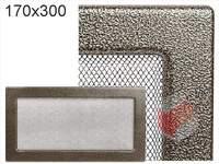 Krbová mřížka lakovaná černo-zlatá 170x300