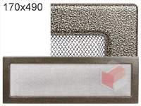 Krbová mřížka lakovaná černo-zlatá 170x490