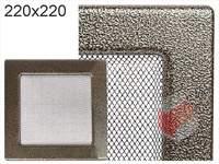 Krbová mřížka lakovaná černo-zlatá  220x220