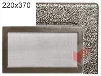 Krbová mřížka lakovaná černo-zlatá  220x370