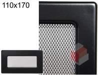 Krbová mřížka černá Č 110x170