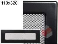 Krbová mřížka černá Č 110x320