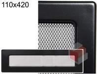 Krbová mřížka černá Č 110x420