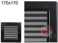 Krbová mřížka černá s žaluzií ČZ 170x170