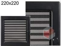 Krbová mřížka černá s žaluzií ČZ 220x220