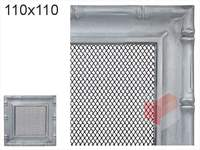 Krbová mřížka Diana stříbrná 110x110