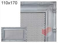 Krbová mřížka Diana stříbrná 110x170