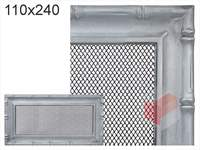 Krbová mřížka Diana stříbrná 110x240