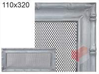 Krbová mřížka Diana stříbrná 110x320