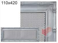 Krbová mřížka Diana stříbrná 110x420