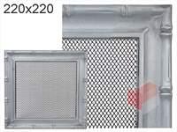 Krbová mřížka Diana stříbrná 220x220